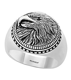 Effy Men's 925 Sterling Silver Black Spinel Eagle Ring