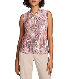 Tommy Hilfiger Knot Neck Printed Top