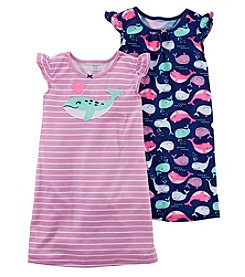 Carter's Girls' 2-Pk. Neon Whale Sleep Gowns