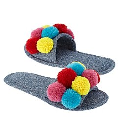 73f2aa3cd62 PJ Couture Pom Pom Slides