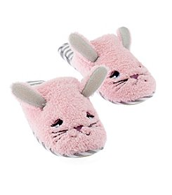 c7f85f6fb18 PJ Couture Bunny Sherpa Critter Slippers