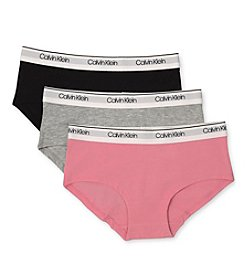 Calvin Klein Girls' 3 Pack Hipsters