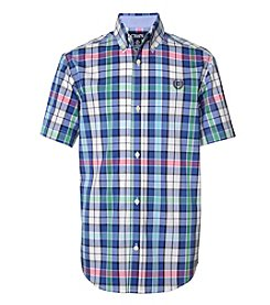 Chaps Boys' 4-20 Kevin Short Sleeve Woven Tee