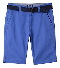 04006f5a9 Chaps Boys' 8-20 Bart Belted Flat Front Shorts
