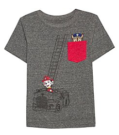 Paw Patrol Boys' 2T-7 Short Sleeve Firetruck Graphic Tee