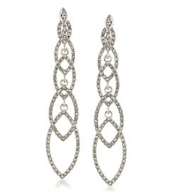 Abs Allen Schwartz Silvertone Linear Earrings