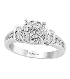 Effy 14K White Gold 0.98 Ct. T.W. Diamond Cluster Ring