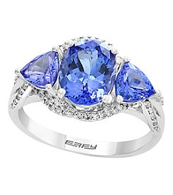 Effy 14K White Gold Tanzanite & Diamond Accent Ring