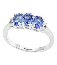 Effy .925 Sterling Silver Tanzanite & Diamond Accent Ring