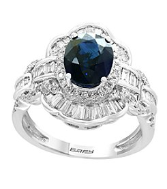 Effy 14K White Gold Sapphire & 0.85 Ct. T.W. Diamond Ring