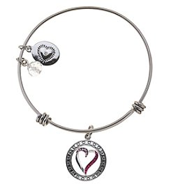 LA Rocks Stainless Steel Adjustable Bangle With Daughter Message