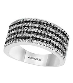 Effy 14K White Gold .97 Ct. T.W. White & Black Diamond Ring