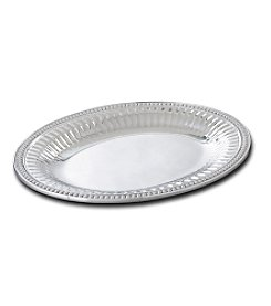 Wilton Armetale® Flutes & Pearls Collection - Medium Oval Tray