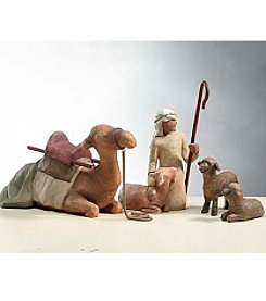 DEMDACO® Willow Tree® Set of 4 Shepherd with Animals
