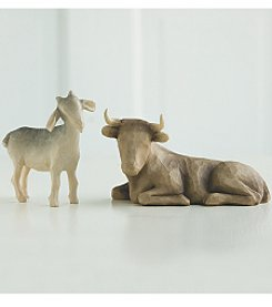 DEMDACO® Willow Tree® by Susan Lordi Ox and Goat Nativity Scene Accessories