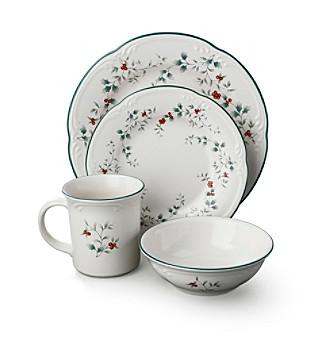 sc 1 st  Bon-Ton & Pfaltzgraff® Winterberry 16-Piece Dinnerware Set | Bon-Ton