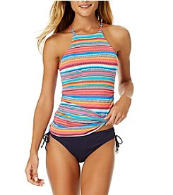 Anne Cole Hi Neck Tankini Top and Side Tie Bottoms