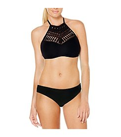 Coastal Zone Crochet High Neck Top and Hipster Bottoms