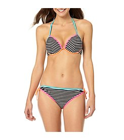 In Mocean® Clueless Stripe Bikini Top and Bottoms