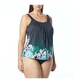 Coco Reef® Plus Size Ultra Fit Tankini Top and High Waist Bottoms