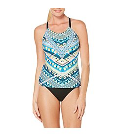 Coastal Zone® Printed Racerback Tankini and Hipster Bottoms