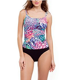 Profile by Gottex Brush Stroke Tankini Top and High Waist Bottoms