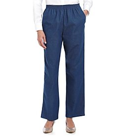 Alfred Dunner® Petites' Denim Pull-on Pants