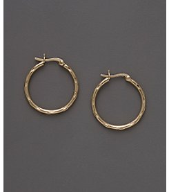 24K Gold-Over-Sterling Silver Diamond Cut Snap Top Earrings