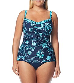 Beach House Plus Size Taylor Underwire Tankini and Side Tie Bottoms