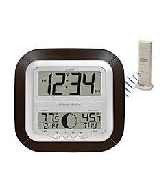 La Crosse Technology® WS-8418U-IT Digital Atomic Wall Clock with Thermometer