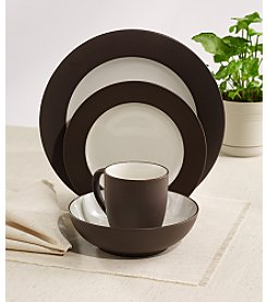 Noritake Colorwave Rim Chocolate 4-pc .Place Setting