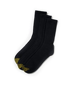 GOLD TOE® Men's Black Uptown 3-Pack Socks