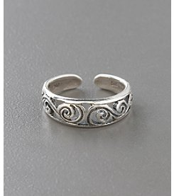 Marsala Sterling Silver Antique Filigree Toe Ring