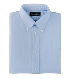 Kenneth Roberts Platinum® Men's Blue Rail Road Stripe Pinpoint Dress Shirt