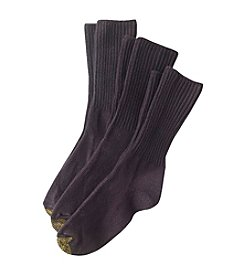 GOLD TOE® Women's 3-Pack All-Day Comfort Bermuda Turn Cuff Socks