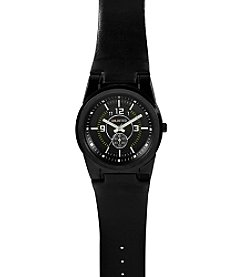 Unlisted by Kenneth Cole® Men's Round Case & Black Dial Watch
