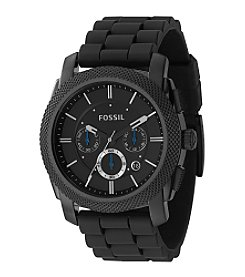 Fossil® Men's Black Resin Chronograph Watch