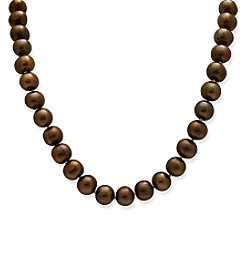 Genuine Freshwater Pearl Necklace - Chocolate