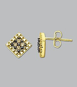 .25 ct. t.w. Diamond and Brown Diamond Earrings