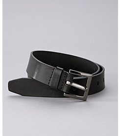 Calvin Klein Jeans® Black Leather Belt with Harness Buckle