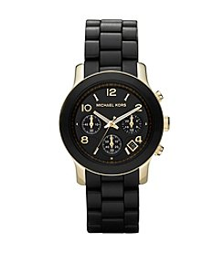 Michael Kors® Chronograph Dial Watch - Black/Gold