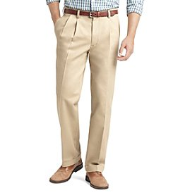 Izod® Men's Classic Fit Pleated Madison No-Iron Pant