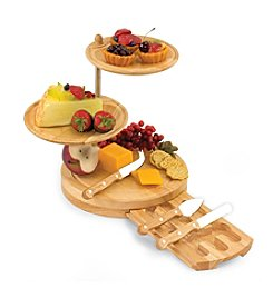 Picnic Time® Regalio 3 Tier Cheese Board w/Knives Serving Tray