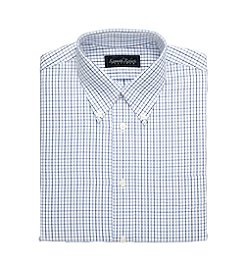 Kenneth Roberts Platinum® Broadcloth Tonal Grid Dress Shirt - Blue