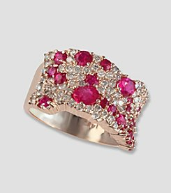 Effy® Amore Collection Rose Gold 1.19 ct. t.w. Diamond and Ruby Ring