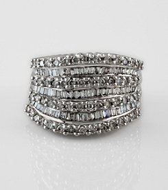 Effy® Classique Collection Diamond Ring in White Gold - 1.47 ct. t.w.
