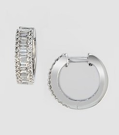 Effy® Classique Collection .75 ct. t.w. Diamond Hoop Earrings in White Gold