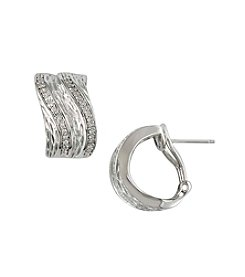 Effy® Sterling Silver .41 ct. t.w. Diamond Swirl Earrings