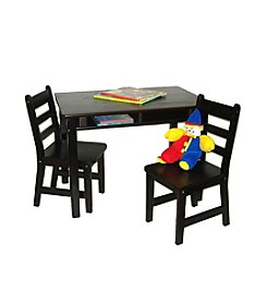 Lipper International 3-pc. Children's Rectangular Table with Shelf & 2 Chairs Set