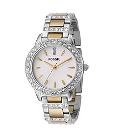 Fossil® Women's 34mm Jesse Two-Tone Crystal Watch